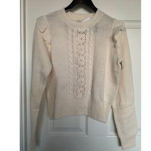 NEW!! H&M Women Knit Flutter Sweater Sz S